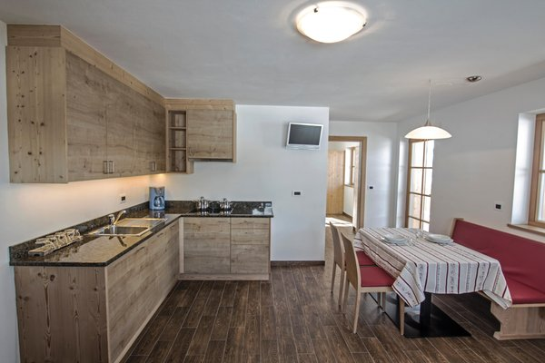 La zona giorno Appartamenti Prè Calalt