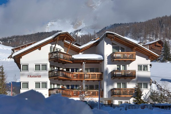 Foto invernale di presentazione Ciasa Milandura - Appartamenti 3 soli