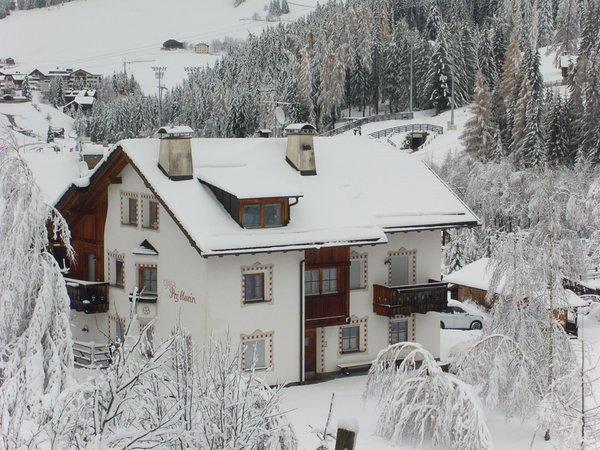 Foto esterno in inverno Ciasa Pré Murin