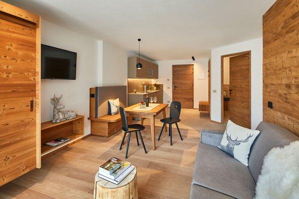 La zona giorno Apartments Les Contrades