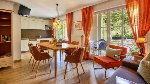 La zona giorno Appartamenti La Sajun e Les Viles