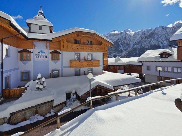 Foto invernale di presentazione AlpHotel Taller Wellness & Sport - Hotel 4 stelle