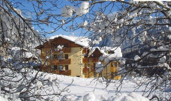 Foto invernale di presentazione Aparthotel Gaia