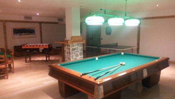 La sala giochi Hotel Cova