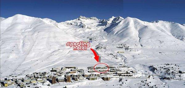 La posizione Hotel Sporting Passo Tonale