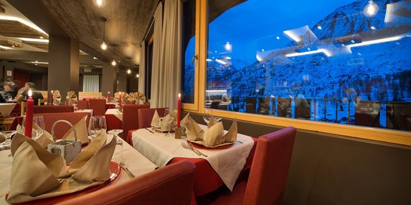 The restaurant Passo Tonale Adamello