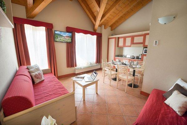 La zona giorno Adamello Resort - Residence 4 stelle