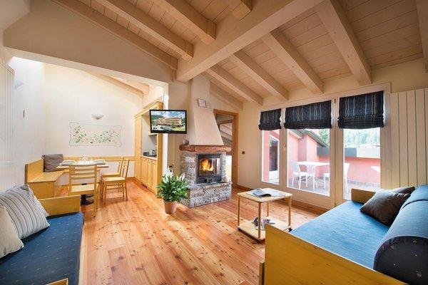 La zona giorno Residence Club Ponte di Legno - Aparthotel 4 stelle