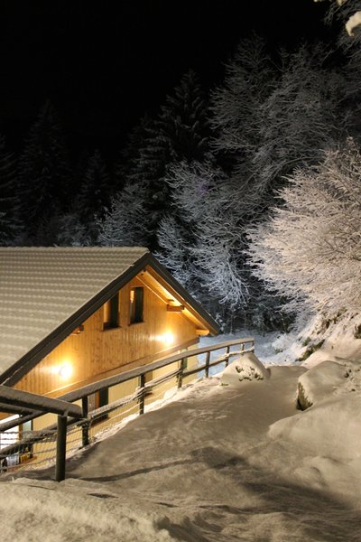Foto esterno in inverno Chalet Presanella