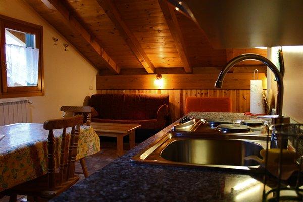 La zona giorno Chalet Presanella - Appartamenti 4 stelle