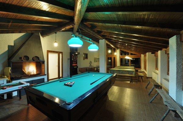 La sala giochi Appartamenti Chalet Presanella