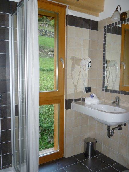 Foto del bagno Camere + Appartamenti in agriturismo Maso Fior di Bosco