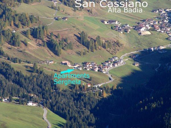 La posizione Appartamenti Serghela San Cassiano