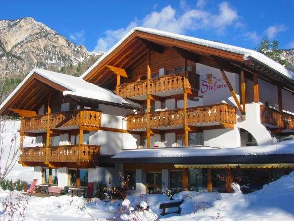 Foto invernale di presentazione Stefaner - Hotel 3 stelle sup.