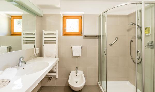 Foto del bagno Hotel Stefaner