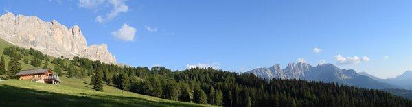 Lage Hütte Messnerjoch Tiers