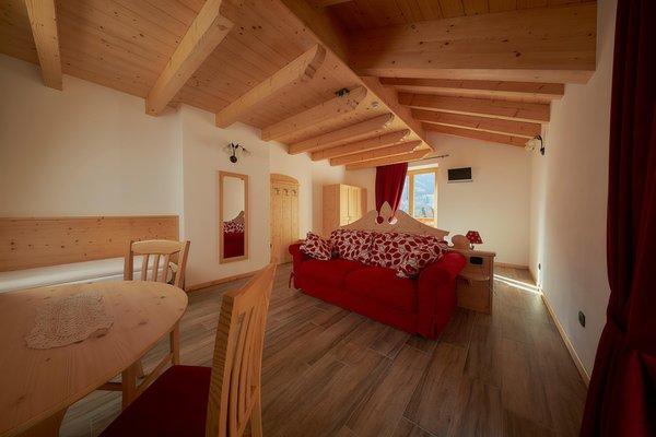 La zona giorno Abete Rosso Room & Restaurant
