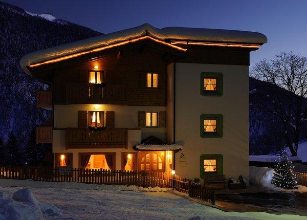 Photo exteriors in winter La Soldanella