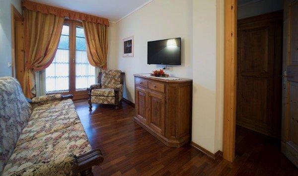 La zona giorno Residence Holidays Dolomiti