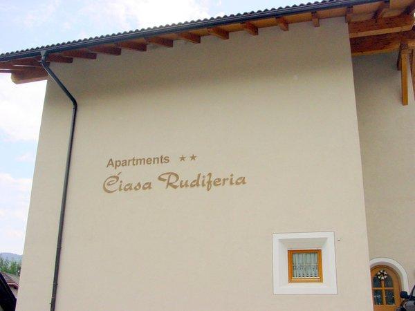 Foto esterno in estate Ciasa Rudiferia