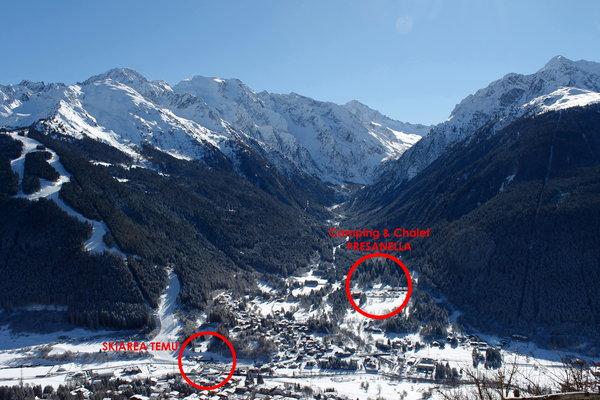 La posizione Campeggio Presanella Temù (Passo Tonale)