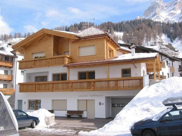 Foto invernale di presentazione Appartamenti Ciasa Settsass