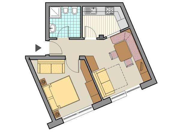 La planimetria Appartamenti Ciasa Settsass