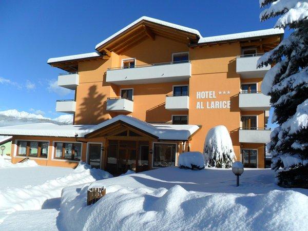 Foto invernale di presentazione Hotel Al Larice