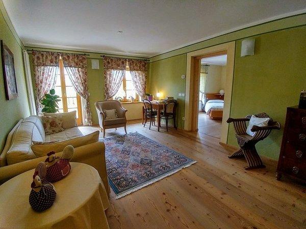 La zona giorno Maso San Bartolomeo - Camere + Appartamenti in agriturismo 5 fiori