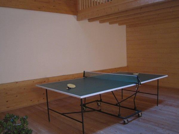 La sala giochi Camere + Appartamenti in agriturismo Maso San Bartolomeo