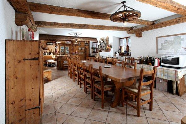 Il ristorante Cloz (Novella - Rumo) Al Canyon