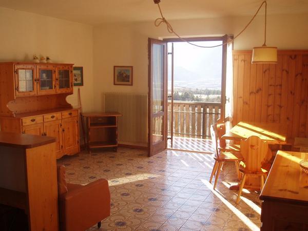 La zona giorno Appartamenti in agriturismo Leonardelli Pio