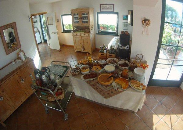 Das Frühstück La Capannina - Zimmervermietung 1 Sonne