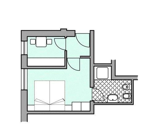 La planimetria Appartamenti Ciasa Vilin e dep. Ciasa Ruances