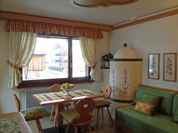 La zona giorno Residence Villa Ladinia