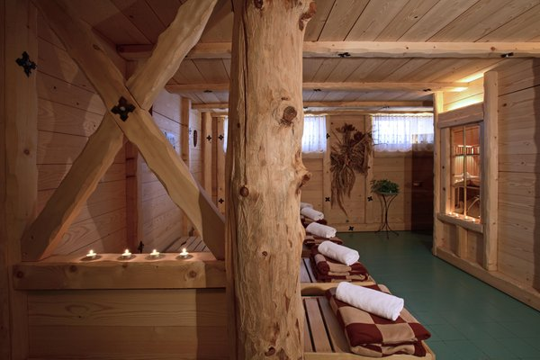 Photo of the wellness area Grand Hotel Gortani