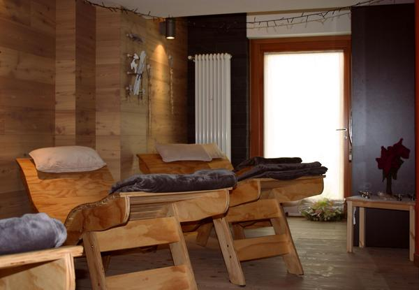 Photo of the wellness area Scattered hotel Comeglians