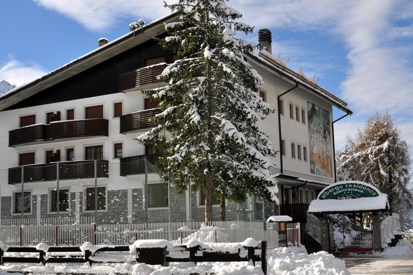 Foto invernale di presentazione Hotel + Residence Biancaneve