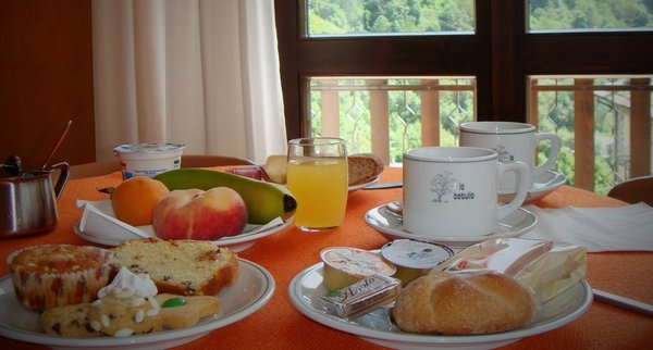 La colazione Meublé La Betulla - Hotel 3 stelle