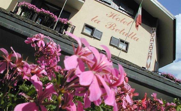 Foto esterno in estate Meublé La Betulla