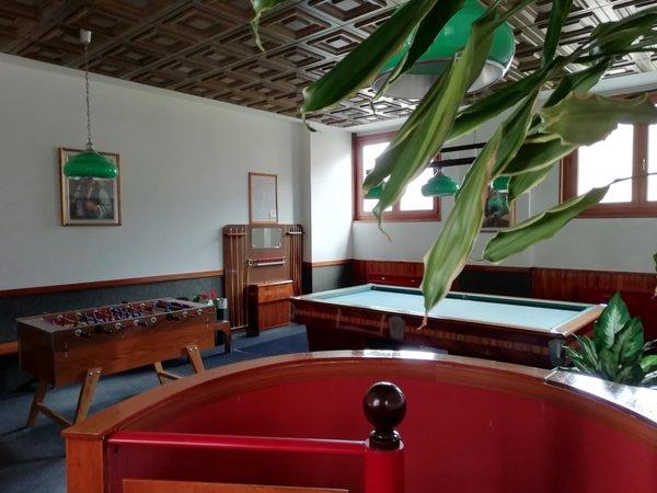 La sala giochi Hotel Miramonti