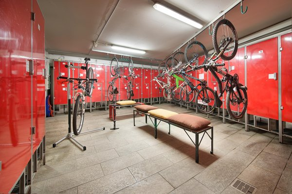 The bike storage