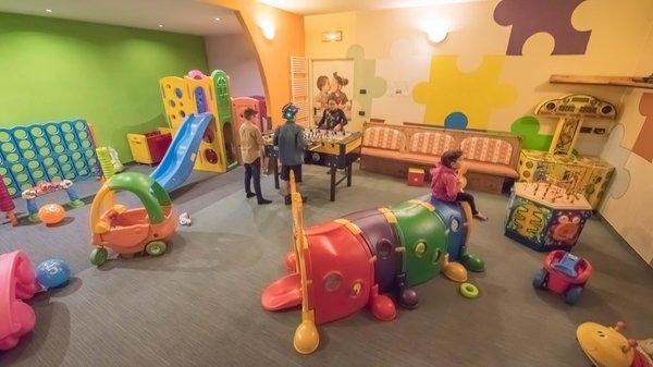 La sala giochi Hotel Capriolo
