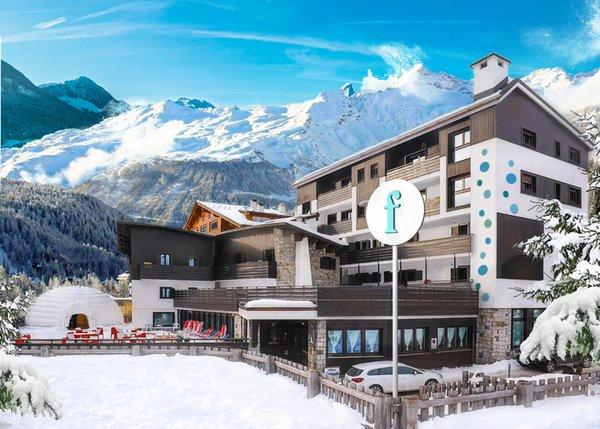 Foto invernale di presentazione Hotel fabilia Family Hotel Madesimo