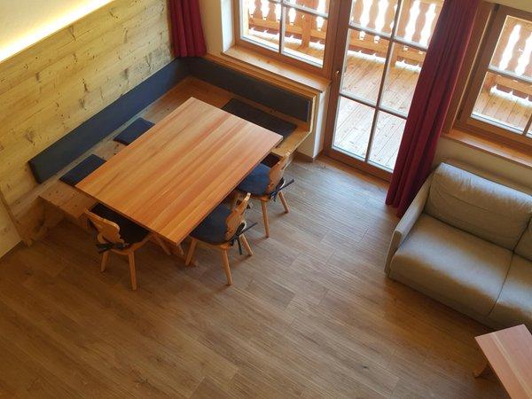 La zona giorno Bruggerhof al Klausberg - Appartamenti in agriturismo 4 fiori