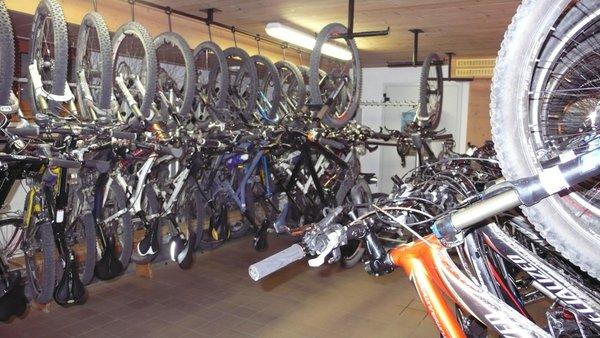 The bike storage