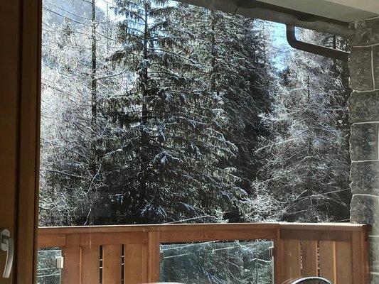 Foto vom Balkon Le cime