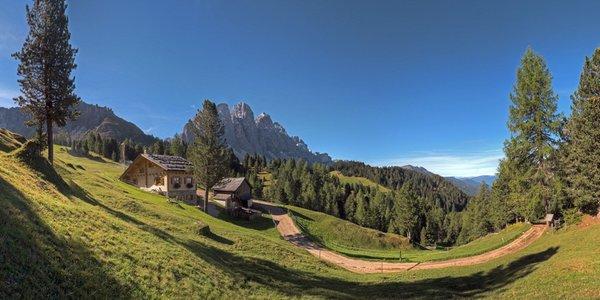 Position Alpine farm Kaserill Alm Valley Funes / Villnösser Tal