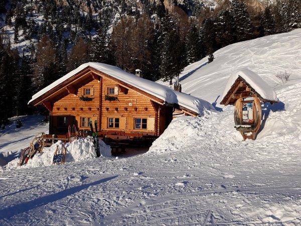 Photo exteriors in winter Alpine farm Kaserill Alm