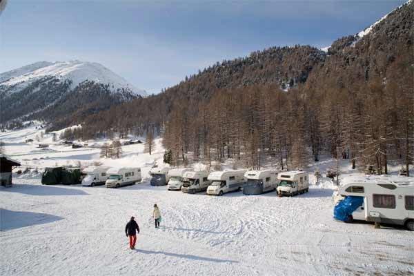 Winter presentation photo Campsite Forcola
